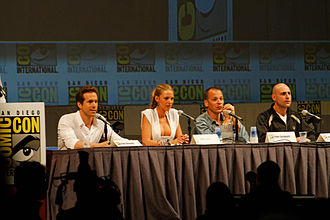 Green Lantern (film) - Cast of Green Lantern at the 2010 San Diego Comic-Con International.