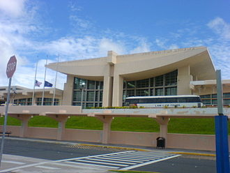 Barrigada - The Antonio B. Won Pat International Airport main passenger terminal, which houses the offices of the Guam International Airport Authority