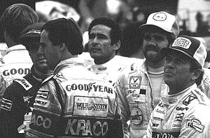 1984 CART PPG Indy Car World Series - Guerrero, Brabham, Ongais, Fillip, and Bettenhausen at Pocono in 1984