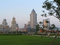 People's Square with Guiyang skyline on the background