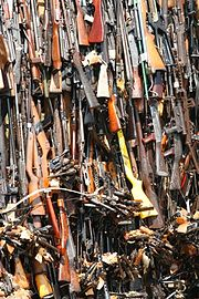 Confiscated arms in Nairobi, Kenya