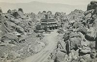 Gunga Din temple location in Alabama Hills (photo taken by Edward D. Sly in 1937 or '38)