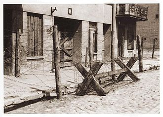 Łódź Ghetto - The Gypsy quarter in the Ghetto after its inhabitants had been transported to the Chełmno extermination camp.