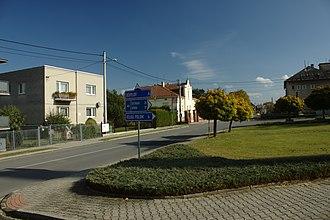Háj ve Slezsku - Image: Háj ve Slezsku, domy a park