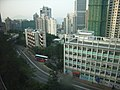 HKU Students Union view Pokfulam Road 香港潮商學校 Chiu Sheung School 任白樓 Yam Pak Building 2006-Dec-02.JPG