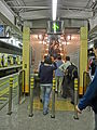 HK MTR Station 火炭站 Fo Tan night escalators visitors Nov-2013.JPG