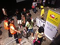 HK Sheung Wan MTR Station visitors Aug-2011 Ip4.jpg
