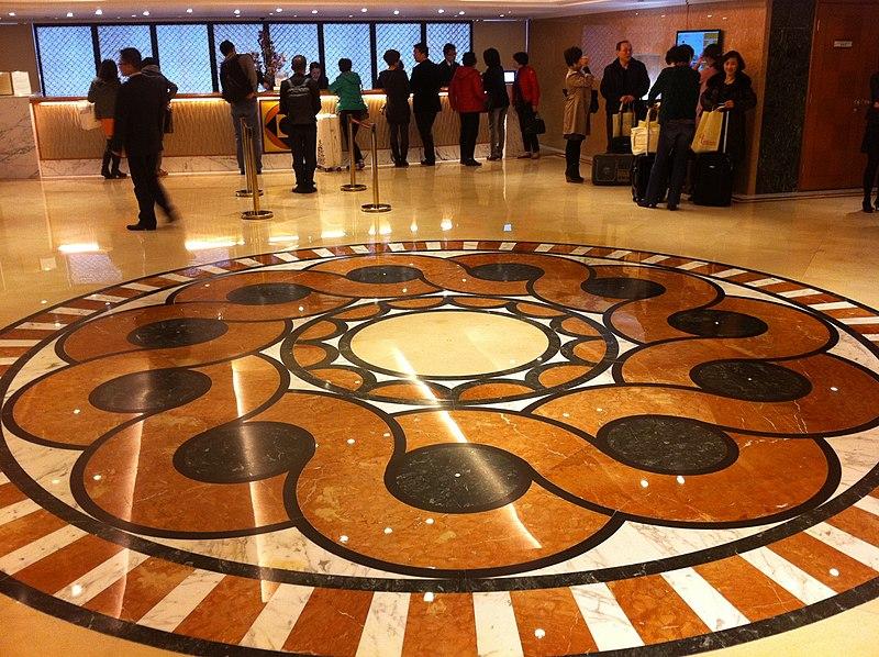 Decorative stone tile flooring image