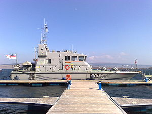 HMS Biter (P270) in Tobermory in April 2009 (2).jpg