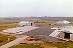 HMS Daedalus (RNAS Lee-on-Solent) 781 Sq, SAR ramp and hangars (35633891846).jpg
