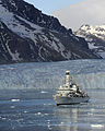 HMS Portland Sails Near Huge Glacier in South Georgia MOD 45151713.jpg