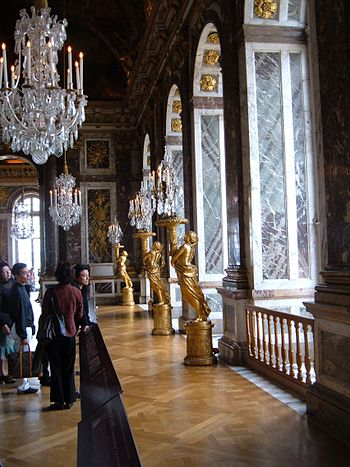 Windows of the Hall of Mirrors in the Palace o...