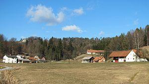 Stranska Vas, Dobrova–Polhov Gradec - Image: Hamlet of Utik in Stranska Vas Slovenia