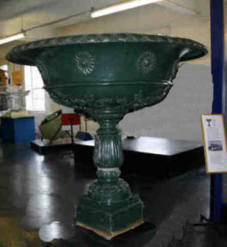 Andrew Handyside and Company - One of a pair of vases made by Handyside for Derby Arboretum c.1846. This one is on exhibition at the Derby Industrial Museum.