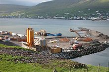 The new harbour at Krambatangi in construction in 2003 Harbour for the new Smyril.JPG