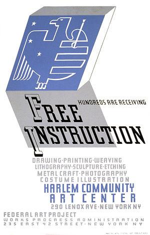 Harlem Community Art Center - Poster for the Harlem Community Art Center  (1938)