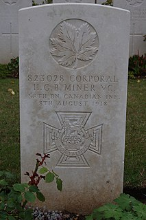 Harry Miner Canadian soldier and recipient of the Victoria Cross
