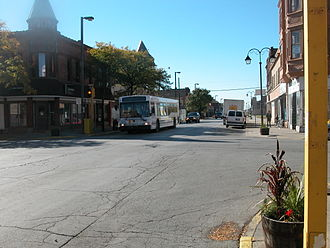 Harvey, Illinois - The central business district, 154th and Center.