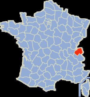 Communes of the Haute-Savoie department - Image: Haute Savoie Position