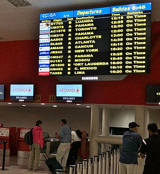 José Martí International Airport - Terminal 3 early afternoon flight information (March 2018)