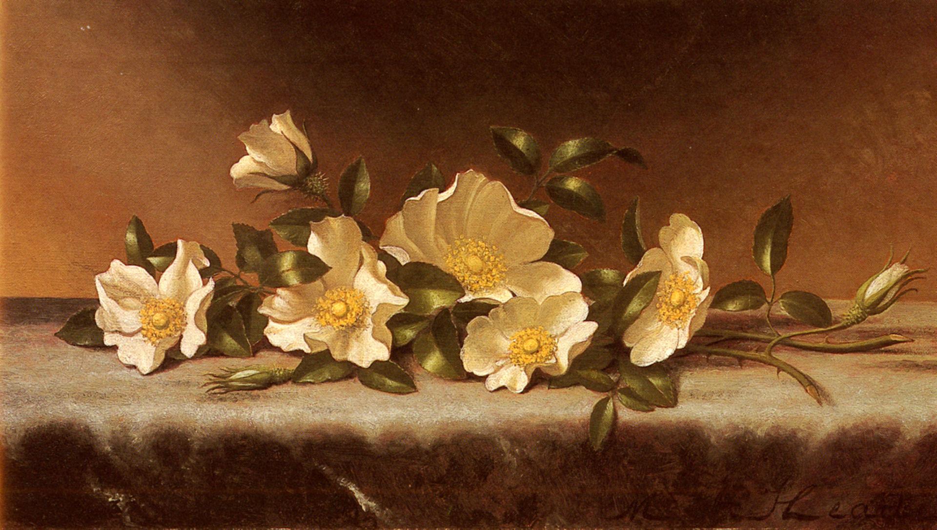 Heade Martin Johnson Cherokee Roses On A Light Gray Cloth.jpg