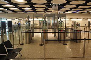 EPassport gates - ePassport gates in Heathrow Airport (Terminal 5)