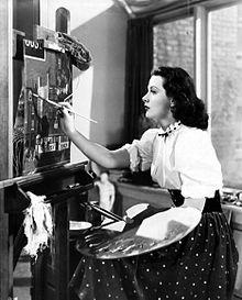 """Hedy Lamarr dans """"La femme déshonorée"""", 1947 - Le Cabinet d'écritures d'Elise Vandel"""