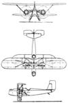 Heinkel HD 20 3-view Le Document aéronautique December,1926.png