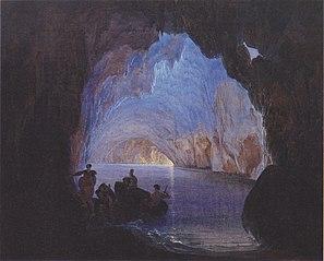 The Blue grotto at Capri