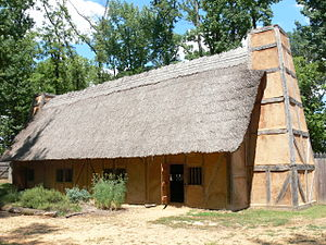Henricus - Reconstruction of Mt. Malady, the first English hospital in America.