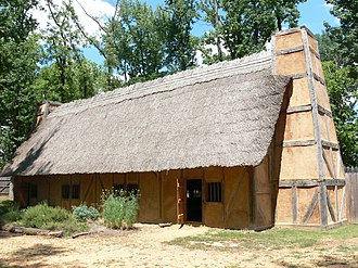 Henricus - Reconstruction of Mt. Malady, the first English hospital in America