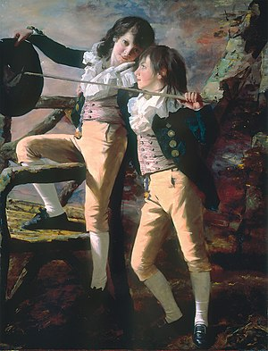 Henry Raeburn - Portrait of James and John Lee Allen, early 1790s