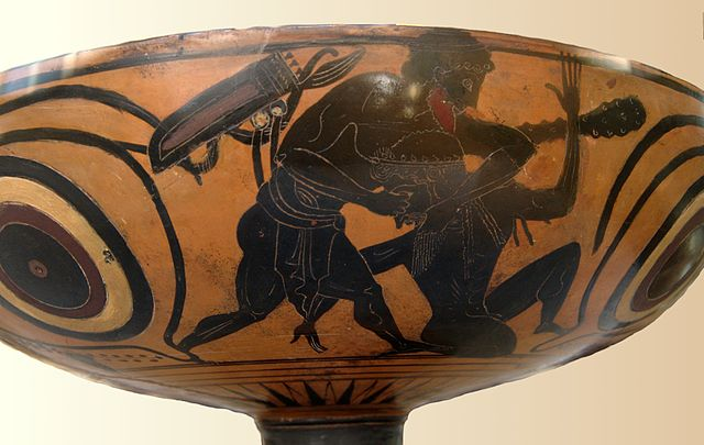 Heracles fighting Alcyoneus
