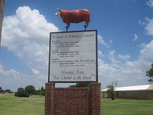Hereford, Texas - Hereford welcome sign on U.S. Highway 385