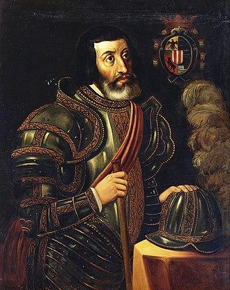 Hernán Cortés - Portrait of Cortés at Museo del Prado.