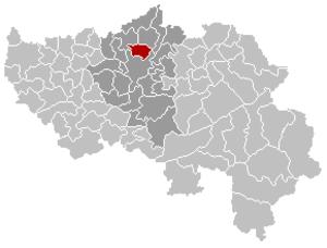 Herstal - Image: Herstal Liège Belgium Map