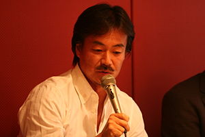 English: Hironobu Sakaguchi at the Game Develo...