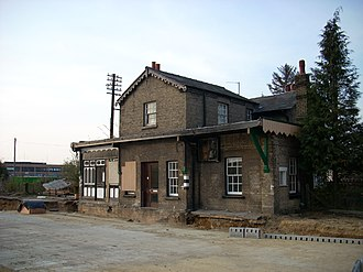 Histon and Impington - An old photograph of the train station (now guided busway)