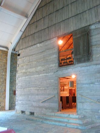 Cane Ridge Revival - The original Cane Ridge Meeting House within the Stone Memorial Building
