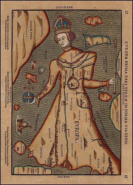 File:Historical-Map Europa-Prima-Pars Terrae-in-Forma-Virginis C.P.1548 standing.jpg