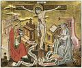 Hl Gregor und hl Hieronymus mit Christus am Kreuz Mittelrhein um 1460.jpg
