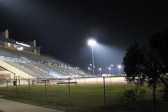 Hodges Stadium - Image: Hodges Stadium at night