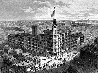 R. Hoe & Company - Company headquarters in 1884, 504 to 520 Grand Street in New York City