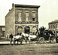 Holladay Overland Stagecoach at Denver office.jpg