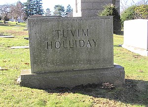 Judy Holliday - The grave of Holliday in Westchester Hills Cemetery