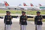 Honor guards wait for the arrival of President Rodrigo Duterte at the Villamor Airbase.jpg