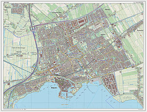 Hoorn - Dutch Topographic map of Hoorn (town), March 2014