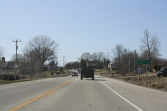 Hortonville, Wisconsin - Image: Hortonville Wisconsin Sign WIS15