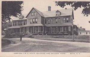Bath VA Medical Center - Image: Hospital N.Y. State Soldiers' and Sailors' Home Bath, N.Y. 1910