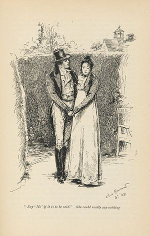 Emma (novel) - 1898 illustration of Mr Knightley and Emma Woodhouse, Volume III chapter XIII